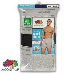 Fruit of the Loom Mens Cotton Boxer Briefs in Assorted Color