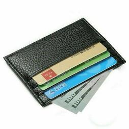 Mens Slim Leather Wallet Card Holder Front Pocket Wallets Cr