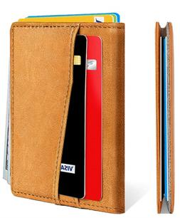 Mens Wallet,Bulliant Leather Slim Wallet For Men&Women RFID