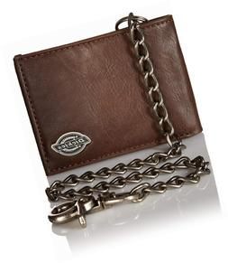 Dickies Mens Wallet with Chain - Leather Security Bifold Tru