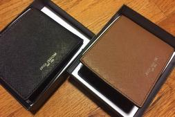 MK Michael Kors Men's Andy Leather Wallet Slim BIFOLD New $9