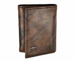 New Haggar- Crunch Trifold Wallet Brown