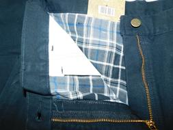 NEW CARHARTT JEANS B111 FLANNEL LINED WASHED DUCK BLK ORIGIN
