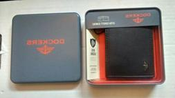 New Dockers- RFID Extra Capacity Leather Bifold Wallet Black