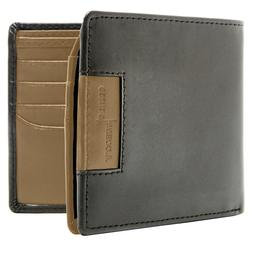 New Vegan Faux Leather Bifold Wallet For Men With FlipUp Id