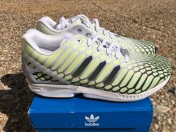 NEW Adidas ZX Flux XENO Snake Men's Shoes White Green 3M Ref