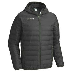 NWT $120 Columbia Men's XL Black 650 Down Puffer Jacket - Wa