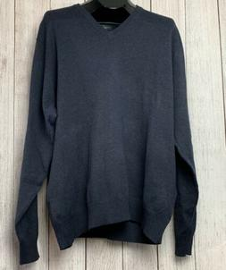 NWT Haggar In Motion Mens Navy Blue Sz XXL Pullover Sweater