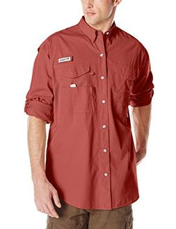 Columbia PFG Bonehead Long Sleeve Shirt - Large - Sunset Red