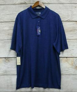 Haggar Shirt Mens Size 2XLT Blueberry Performance Polo Quick