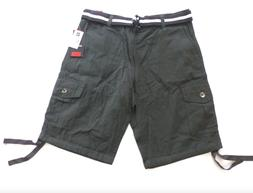 Southpole Shorts Mens Size 32 Charcoal Grey Belted Ripstop C