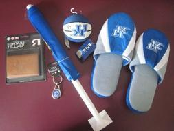 UK Wildcats Brown Leather Trifold Wallet, slippers, car flag