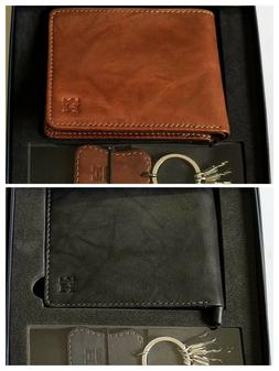 Haggar Wallet for men Genuine Leather Black or Brown with Ke